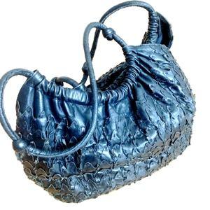 PATRIZIA PEPE Black Leather Shoulder Bag